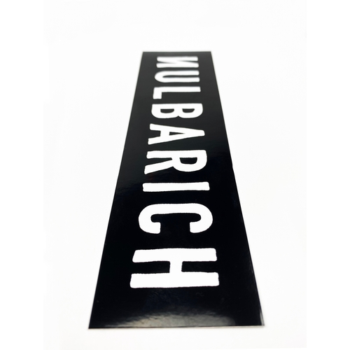 NULBARICH HIGH QUALITY LOGO STICKER/black
