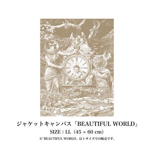 <LLサイズ>ジャケットキャンバス''BEAUTIFUL WORLD''
