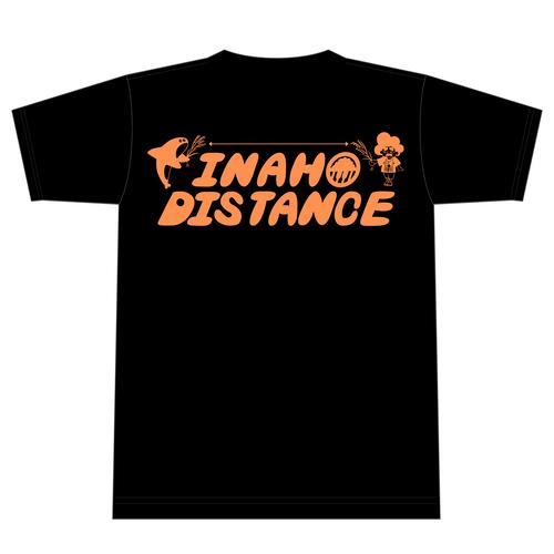 稲穂ディスタンス袴Tシャツ/黒