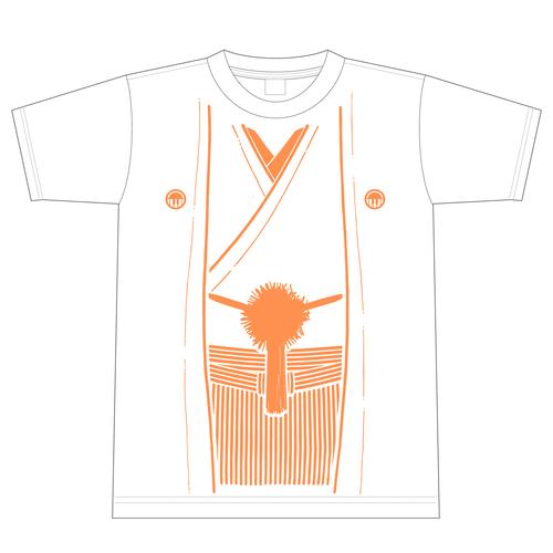 稲穂ディスタンス袴Tシャツ/白