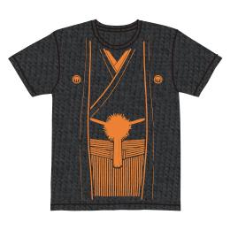伽羅古袴Tシャツ【スミ×オレンジ】