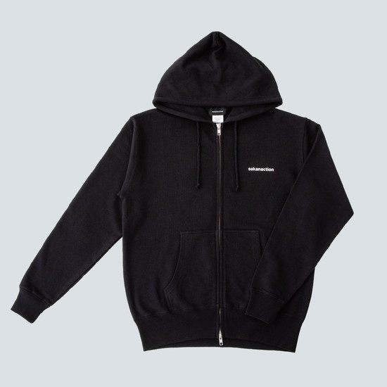 GRAPH DOUBLE ZIP HOODIE(Black)