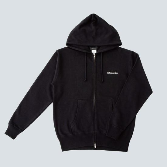 GRAPH DOUBLE ZIP HOODIE(Black)