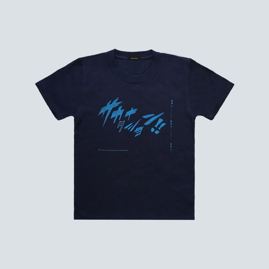 COMIC FONT sakanaction KIDS TEE/Navy