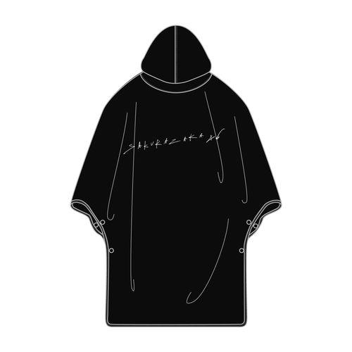 【通常配送】BAN ポンチョ/ブラック