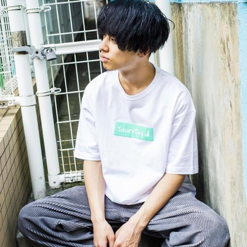 ぷくっとロゴビッグシルエットTシャツ/ブラック