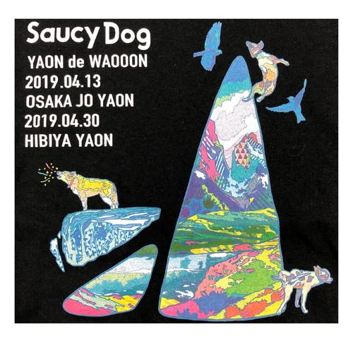 YAON de WAOOON 限定ロンT/ブラック