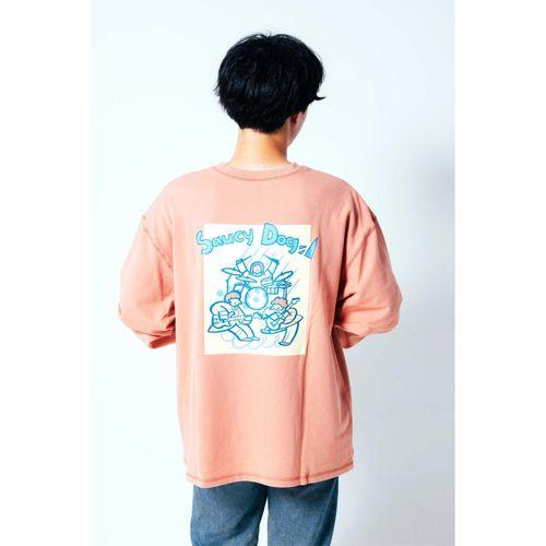 ライブうきうきバックプリントロンT/クリーム