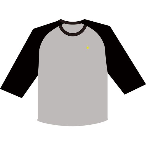 【さユり】ラグランTシャツ(グレー)