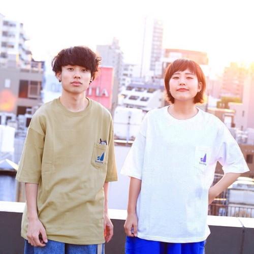 ビッグシルエットポケットTシャツ/ホワイト