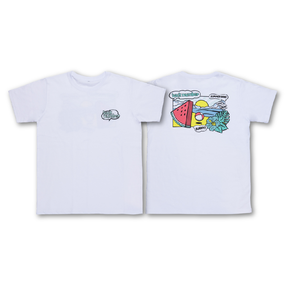 サマーイラストTシャツ/ホワイト