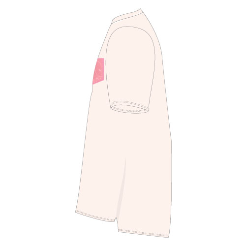THE BEAT GARDEN PVCポケットTee - Ivory × Baby Pink