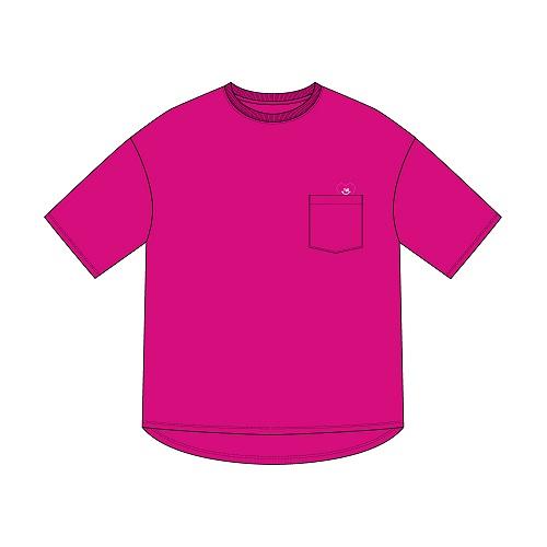 オーバーTシャツ/ピンク