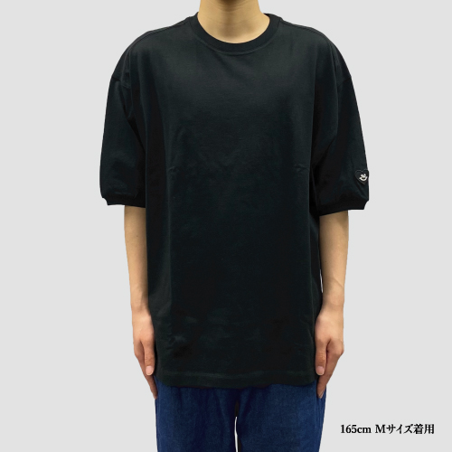 パフスリーブTシャツ/ブラック