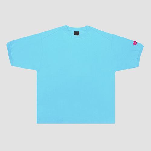パフスリーブTシャツ/ライトブルー