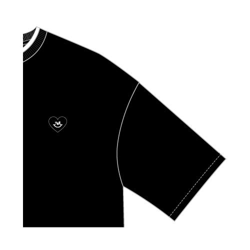 レイヤードTシャツ/ブラック