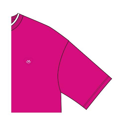 レイヤードTシャツ/ピンク