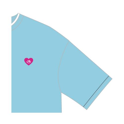 レイヤードTシャツ/ライトブルー