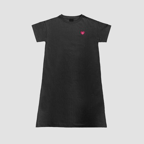 ワンピースTシャツ/ブラック
