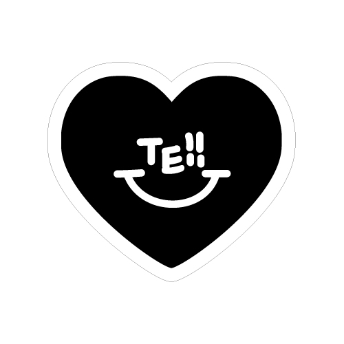 TE!! ワッペン/ブラック
