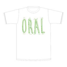 手書きロゴTシャツ【ホワイト】