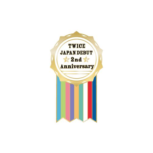 TWICE JAPAN DEBUT 2nd Anniversary Goods ピンバッチA