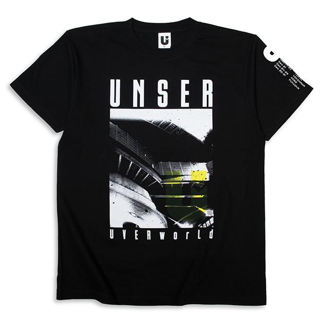 Tシャツ【A】TOUR(ブラック) - UNSER TOUR