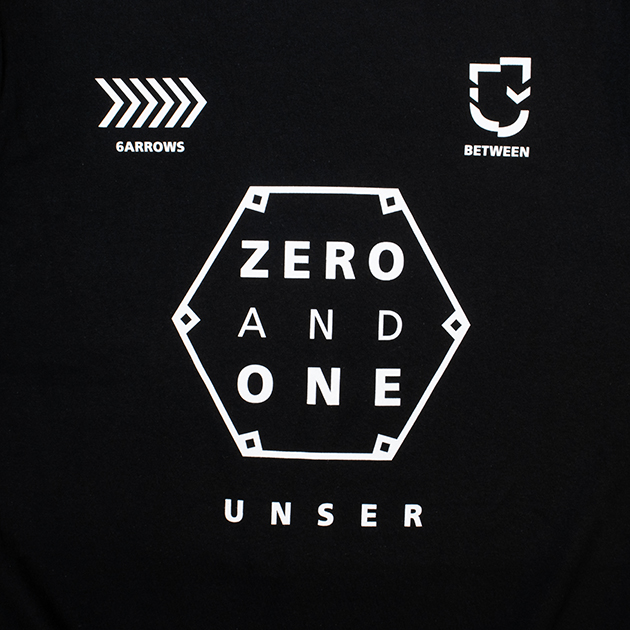 Tシャツ【B】0&1(ブラック) - UNSER TOUR