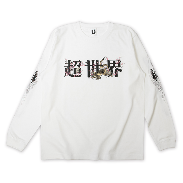"""【克哉 Produce】""""超世界"""" -浮世絵- ロングスリーブTシャツ(ホワイト) - LIVE HOUSE TOUR 2020"""