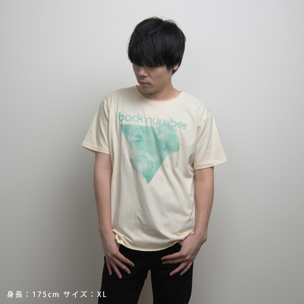 水彩グラフィックTシャツ/ナチュラル