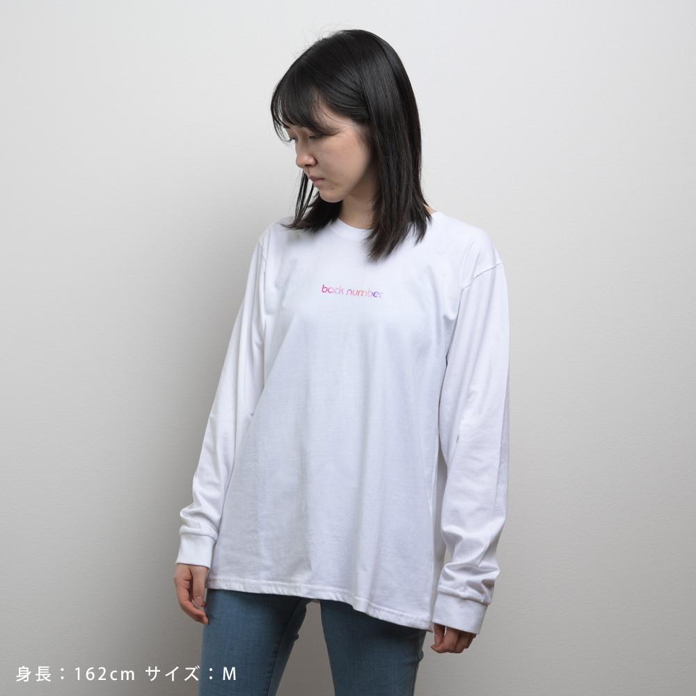 水彩ロングスリーブTシャツ/ホワイト