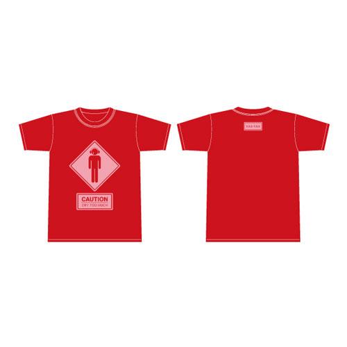 【ザアザア】赤色ティーシャツ