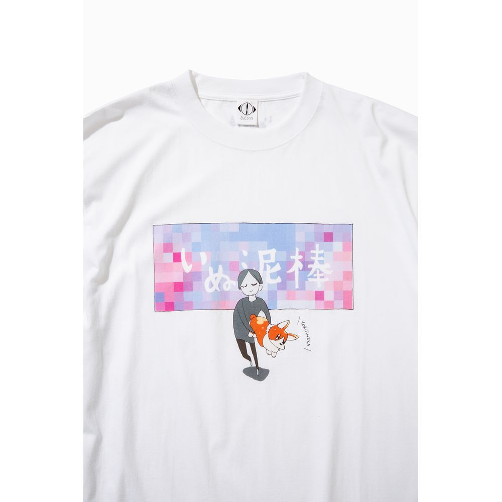 suisデザイン 「いぬ泥棒」ビッグTシャツ