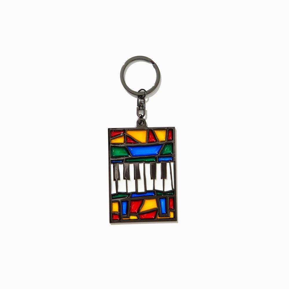 ステンドグラスキーホルダー「ピアノ」